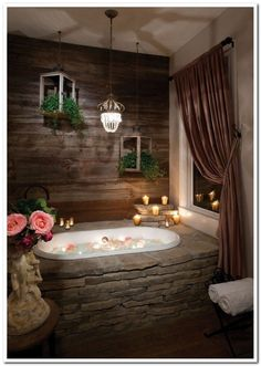 This rustic bathroom design creates beautifully warm and relaxed setting. This rustic bathroom design creates beautifully warm and relaxed setting. Rustic Bathroom Designs, Rustic Bathrooms, Dream Bathrooms, Beautiful Bathrooms, Master Bathrooms, Bathroom Ideas, Bathroom Vanities, Bathroom Inspiration, Bathtub Designs