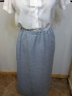 Shades Of Blue Vintage 1960's Plaid Skirt by by RetrosaurusRex