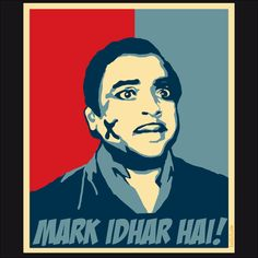 Mark idhar hai - Bollywood T Shirt Funny Pictures Of Women, Super Funny Pictures, Funny Illustration, Illustration Sketches, Funny Dp, Funny Dialogues, Guess The Movie, Bollywood Posters, Indian Folk Art