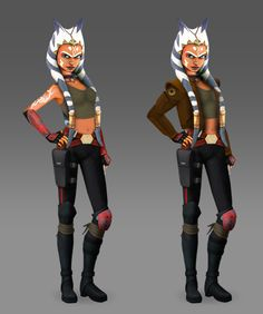 Ahsoka Tano's new look. Star Wars Rebels!!!! Looks like Steelas old clothes../// Wait, wait, wait.... shes in Rebels?? This is news!!!!!!