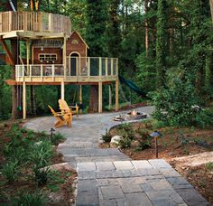 Treehouse and landscaping