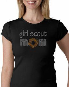 Girl+Scout+Mom++Rhinestone+Tshirt+or+Tank+by+MyOneStopBlingShop,+$19.95