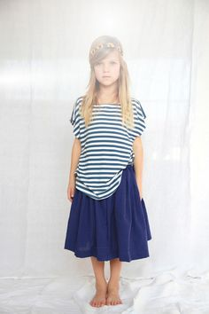 Striped Shirt and Midi Skirt | Amazing Children's Clothes You Wish Came In Adult Sizes