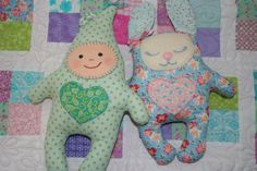 Cuddle bunny and Cuddle kid cloth softie PDF sewing pattern instant download