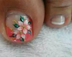 es Toe Nail Color, Toe Nail Art, Nail Art Diy, Easy Nail Art, Nail Colors, Cute Pedicure Designs, Toe Nail Designs, Pretty Toe Nails, Love Nails