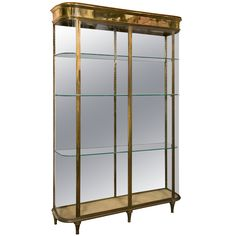 antique glass display cabinet c1900