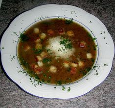 Basler Mehlsuppe - original recipe as they make it in Switzerland. It is a popular soup in South Germany as well.