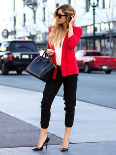 these pants --must find --pair with red blazer and white blouse