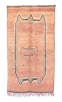 """Vintage Talsint Moroccan Rug, 3'11"""" x 7'5"""" feet"""