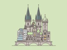 Dribbble - Prague by Daniel Haire