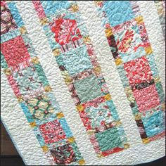 Angels Staircase Quilt: Pattern includes cutting instructions for layer cakes or fat quarters. Can be finished over a weekend! (This is one that is on my list to make.)