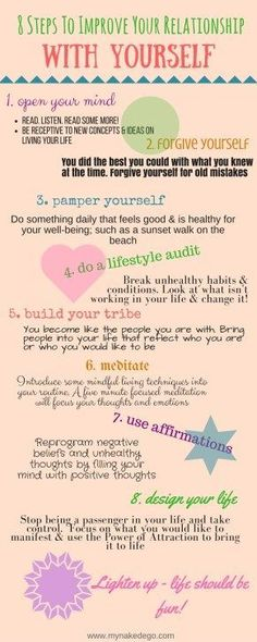 8 Steps to Improve Your Relationship with Yourself- Self Help and Self improvement tips and ideas How To Improve Relationship, Relationship Tips, Healthy Relationships, Relationship Challenge, New Energy, Me Time, Self Development, Personal Development, Health And Wellness