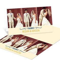Unique Wedding Thank You Notes -- Happily Ever Headlines #peartreegreetings #weddingthankyoucards #weddingideas