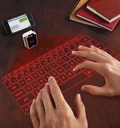 Laser Virtual Keyboard #geek #computer | brookstone.com