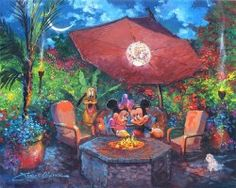 Coleman's Paradise (Disney Fine Art by Ceaco is a wonderful and creative new take on Disney's Mickey and Minnie. Disney Fine Art, Creation Photo, Disney Artists, Arte Disney, Disney Mickey, Disney Nerd, Disney Magic, Disney Parks, Mickey Mouse And Friends
