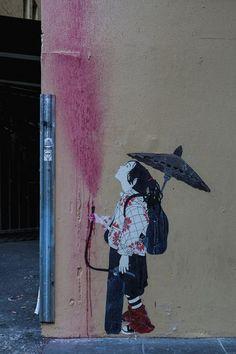 STREET ART UTOPIA » We declare the world as our canvasStreet Art by Be Free - In Melbourne, Australia » STREET ART UTOPIA