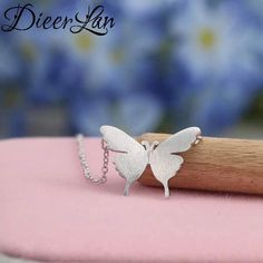 New Arrivals 925 Sterling Silver Butterfly Necklaces & Pendants For Women Fashion sterling-silver-jewelry