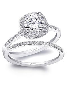 Coast Diamond engagement ring with cushion shaped halo of diamonds in platinum I Style: LC5410 & WC5410 I Charisma Collection I https://www.theknot.com/fashion/charisma-collection-lc5410-wc5410-coast-diamond-engagement-ring?utm_source=pinterest.com&utm_medium=social&utm_content=june2016&utm_campaign=beauty-fashion&utm_simplereach=?sr_share=pinterest