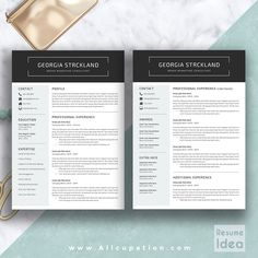 @allcupation Creative Resume Template, Modern CV Template, Word, Cover Letter, References, Instant Download, Mac PC, GEORGIA | Allcupation.com | We Help You Create Powerful Resume and Win The Interview | #resume #template #resumetemplate