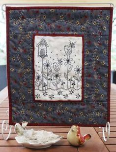 A Birdhouse Home - by Gail Pan Designs -  Wallhanging Pattern