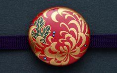 菊慈童 (伯兆 / hakutyou): 作品: 野庵 yarn 着物小物のお店 (根付、帯留、かんざし、簪、和小物 等)