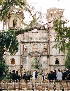 Ruined Church Wedding // wedding in an historic dilapidated building in brazil
