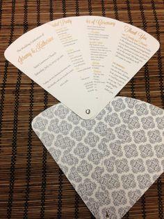Petal Fan Wedding Program Fan Program by DesignsByAlisaMarie, $50.00