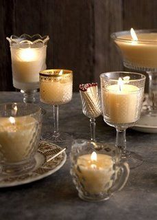 ** Thriftcycled Glasses Made Into Candles @dailydanny