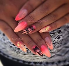 Trendy Nails Art Estive Fluo Ideas Nail art is an innovative way to color, decorate, enhance, and em Perfect Nails, Gorgeous Nails, Nail Manicure, Toe Nails, Stiletto Nails, Vacation Nails, Nail Jewels, Beach Nails, Trendy Nail Art