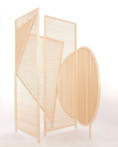 wooden screens by Boaz Cohen and Sayaka Yamamoto.