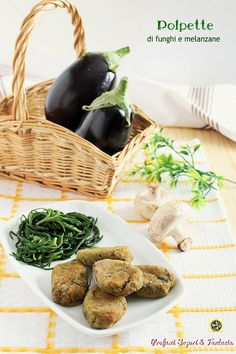 Polpette di funghi e melanzane vegetariane - Profumi Sapori & Fantasia Wicker Baskets, Baked Potato, Potatoes, Baking, Ethnic Recipes, Passion, Food, Fantasy, Potato