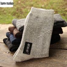 10 unidades de 5 pares 2017 NUEVO invierno cálido calcetines hombre El conejo calcetines de lana calcetines de Los Hombres calcetines de lana de calcetines a la Flecha de color puro de la extendida(China (Mainland))