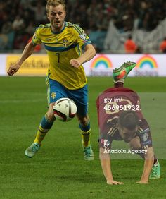 Sebastian Larsson of Sweden in action against...