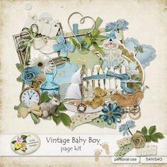 Vintage Baby Boy Page Kit by Linda Cumberland