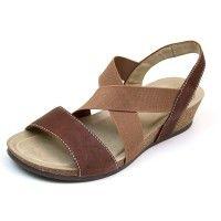 84131d17e7a Carlisa Pecan Leather Sandal Rialto Shoes