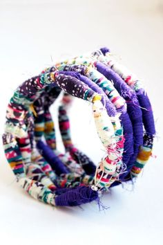 DIY: Fabric Bead Bracelet Tutorial | http://hellonatural.co/kid-craft-fabric-bead-bracelet-tutorial/