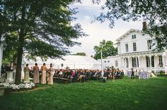 The Merrimon Wynne House | Libby and Ethan's ceremony on the lawn! // Autumn Harrison Photography