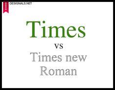 [Diseño Gráfico] -¨Times LT vs Times New Roman