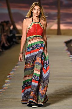 Gigi Hadid walks the runway at the Tommy Hilfiger Spring Summer 2016 show during…