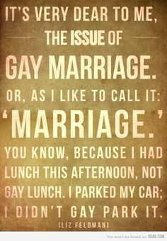 Gay marriage is just MARRIAGE!