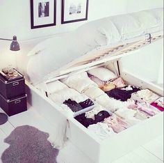 Perfect storage space in the bedroom
