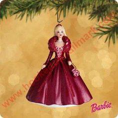 2002 Barbie - Celebration Hallmark Christmas Ornament, Mint in Box - In Stock! - The Ornament Shop. Hallmark Christmas Ornaments, Hallmark Holidays, Christmas Gift Decorations, Hallmark Keepsake Ornaments, Christmas Barbie, Barbie Collection, Doll Crafts, Disney, Celebration