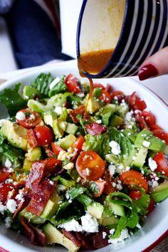 BLT Salad Bowl ~ with avocado and vinaigrette