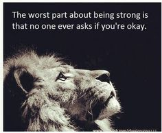 being strong is hard. - Click image to find more Quotes Pinterest pins