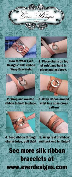 How to - silk ribbon wrap bracelet