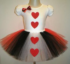 Queen of Hearts Outfit, Birthday Tutu Set, Queen of Hearts Halloween Costume, Tutu and Onesie
