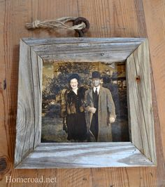 homeroad: make a Rustic Driftwood Picture Frame