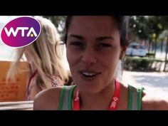 """During the China Open in Beijing, WTA tennis players learned how to say """"Hello Everyone, I'm .(and their name)"""" in Mandarin. Also watch the outtakes video . Tennis Rules, Tennis Tips, Tennis Tournaments, Tennis Players, How To Say Hello, How To Play Tennis, Wta Tennis, Masters Tournament, Tennis Serve"""