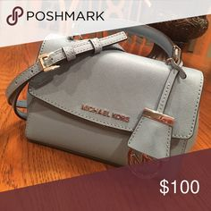 MK Ava Extra-Small Saffiano Leather Crossbody light baby blue MK purse, only used a couple of times, looks brand new. Michael Kors Bags Crossbody Bags