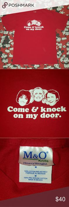 """Vintage tee """"Come and knock on my door..."""" Most excellent Three's Company vintage tee featuring Jack, Janet and Chrissy!! I still love this 70s iconic tv show!!  This gem of a t-shirt is in great condition deserves to be rocked! Size M but will fit most depending on how you wanna wear it. Measurements: Length --25"""" Shoulder to shoulder --18"""" Pit to pit --19"""" And I sincerely thank y'all for checkin out my vintage digs!! Hit me up for more info and stay classy!!👄💄🤘 Vintage Tops"""